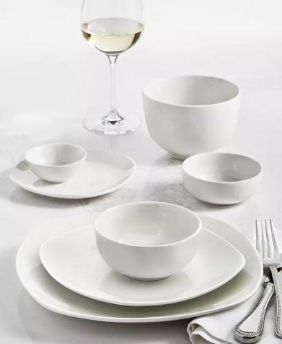 Tabletops Unlimited Whiteware 42-Piece Dinnerware Set for $38 + free shipping