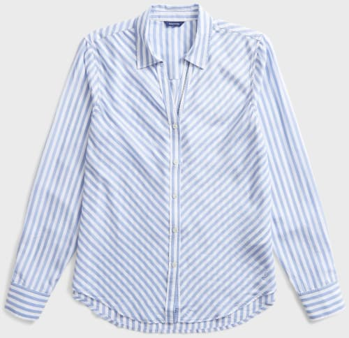 Nautica Women's Sustainably Crafted Striped Shirt for $27 + free shipping w/ $50