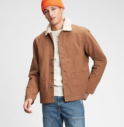 Gap Men's Workforce Collection Sherpa Jacket for $26 + free shipping