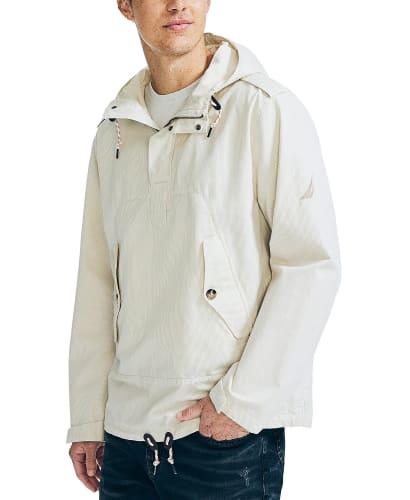 Nautica Men's Pinstripe Hooded Anorak Jacket for $37 + free shipping