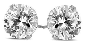 Szul 1-TCW Round Diamond Solitaire Earrings for $725 + free shipping