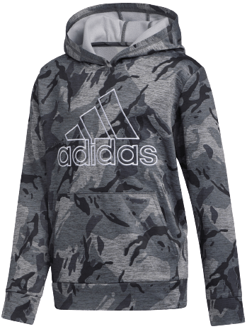 adidas Boys' Heathered Core Camo Hoodie for $16 in cart + free shipping