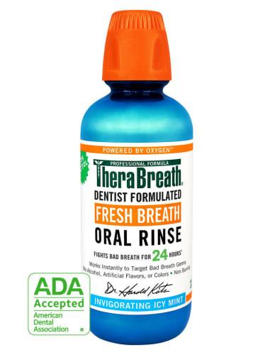 TheraBreath 24-Hour Fresh Breath Oral Rinse 16-oz. Bottle for $8 + free shipping