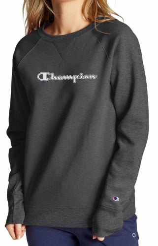 Champion Women's Athletics Powerblend Fleece Crew for $14 + free shipping