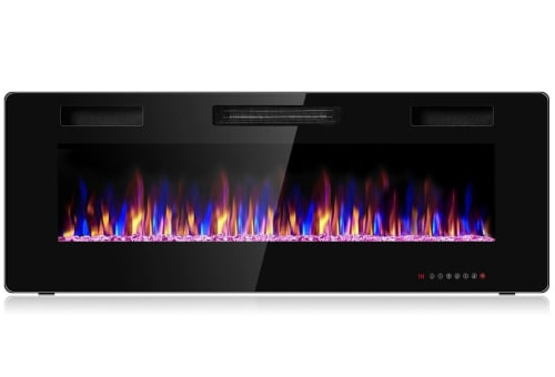 """Costway 50"""" Wall Mounted Recessed Electric Fireplace w/ Timer for $219 + free shipping"""