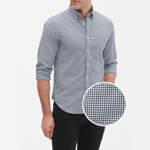 Banana Republic Factory Men's Slim-Fit Untucked Oxford Shirt (L sizes) for $16 in cart + free shipping w/ $50