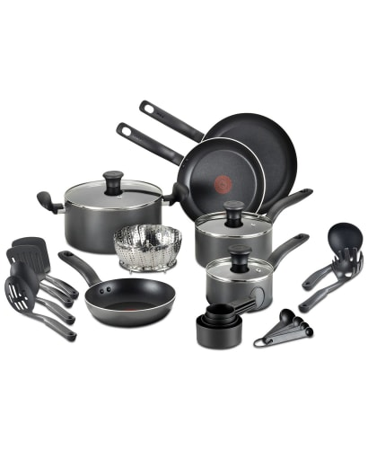 T-Fal 18-Piece Nonstick Cookware Set for $50 + free shipping