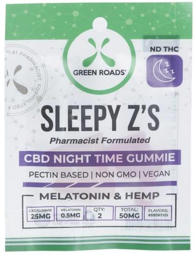 Green Roads CBD 50mg Sleepy Z's Gummies for $7 + free shipping