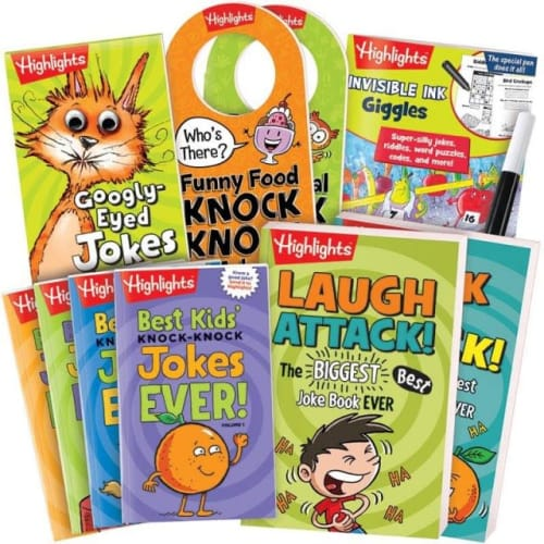 Highlights Jokes and Riddles Gift Set for $25 + $8.95 s&h