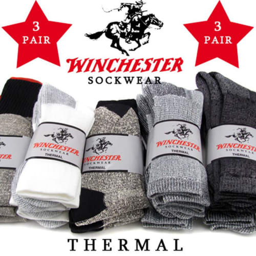 Winchester Thermal Socks 3-Pack for $5 + $1.49 s&h