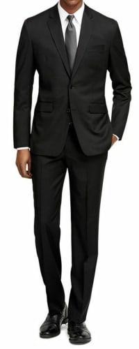 Braveman Men's Slim Fit 2-Piece Solid Suit Set for $41 + free shipping