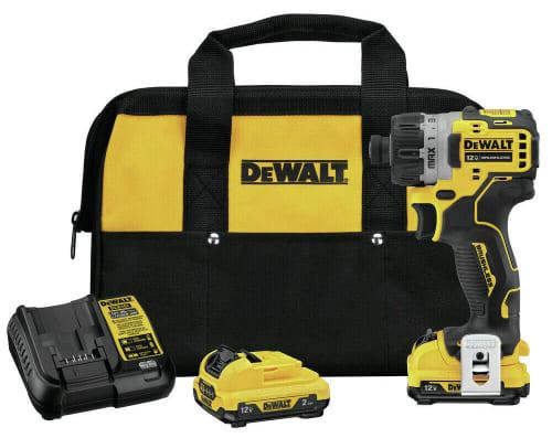 "DeWalt 12V MAX 1/4"" Cordless Screwdriver Kit for $89 + free shipping"