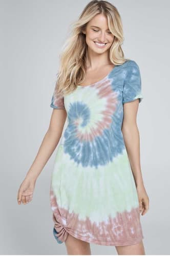 Venus Women's Tie Dye Knotted Lounge Dress for $37 + free shipping w/ $75
