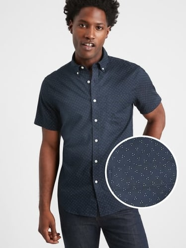 Banana Republic Factory Men's Slim-Fit Oxford Shirt for $14 in cart + free shipping w/ $50