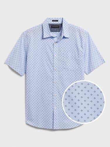 Banana Republic Factory Men's Short Sleeve Slim-Fit Shirt for $21 in cart + free shipping w/ $50