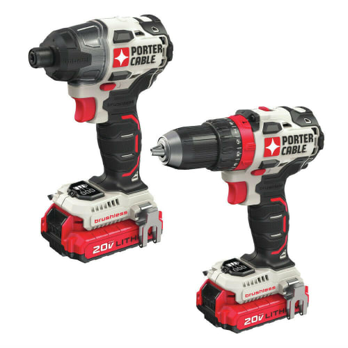 Refurb Porter-Cable 20V Max Li-ion Cordless Drill Driver and Impact Drill Combo Kit for $115 + free shipping