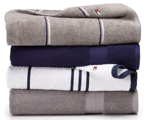 Tommy Hilfiger Modern American Cotton Mix and Match Bath Towel Collection from $3 + free shipping w/ $25