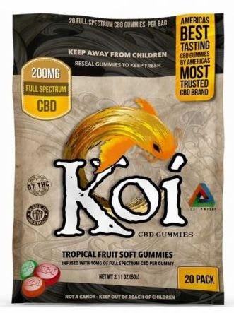 Koi Naturals 200mg CBD Tropical Gummies 20-Pack for $17 + free shipping w/ $49
