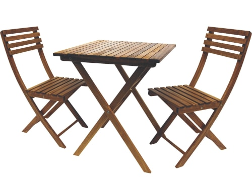 Leigh Country 3-Piece Classic Acasia Wood Folding Bistro Set for $95 + free shipping