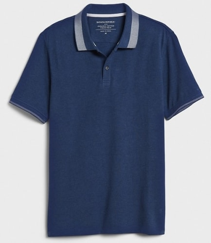 Banana Republic Factory Men's Pique Polo Shirt for $9 + free shipping w/ $50