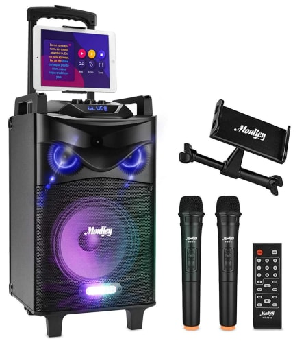 """Moukey Bluetooth Karaoke Machine / PA System with 10"""" Subwoofer for $152 + free shipping"""