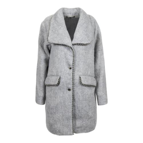 Steve Madden Women's Studded Midi Coat for $13 + $5.95 s&h