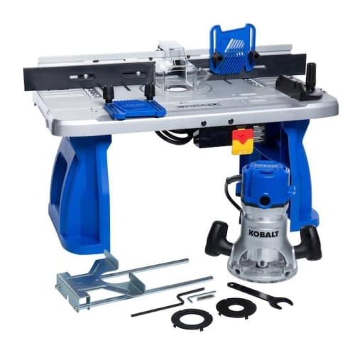 "Kobalt 1/4"" and 1/2"" Fixed Corded Router with Table for $129 + free shipping"