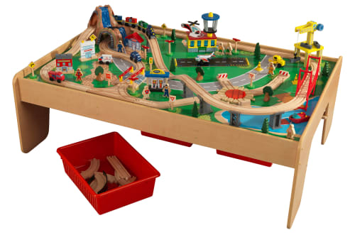 KidKraft Waterfall Mountain Train Set & Table w/ 120 Accessories for $85 + free shipping