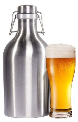 Stainless Steel Beer and Beverage 64-oz. Growler for $14 + $3.49 s&h