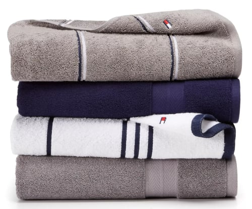 Tommy Hilfiger Modern American Cotton Mix & Match Bath Towel Collection from $3.60 + free shipping w/ $25
