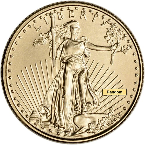 2021 1/10-oz. Gold American Eagle $5 Coin for $221 + free shipping