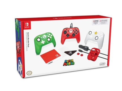 Super Mario Holiday Accessory Bundle for Nintendo Switch for $16 + pickup