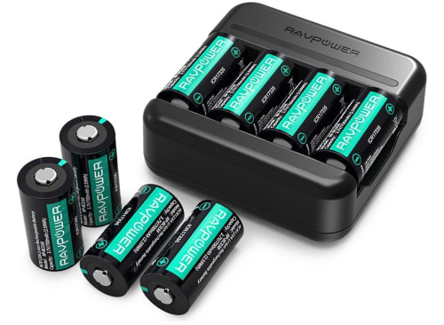 RAVPower CR123A Battery Charger with 8 Batteries for $15 + free shipping