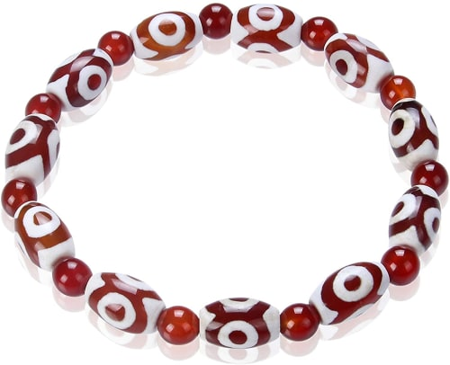 """Tibetan Amulet DZI Tian Zhu 7"""" Bracelet for $14 + free shipping"""