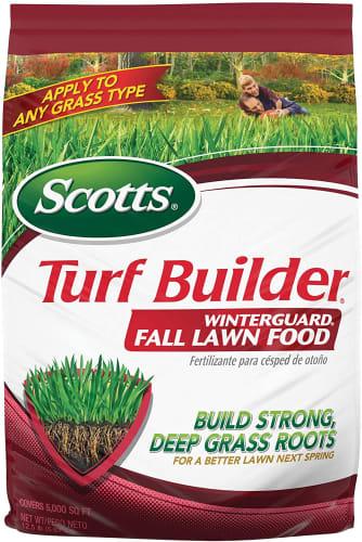 Scotts Turf Builder WinterGuard Fall Lawn Food 12.5-lb. Bag for $19 for Ace Rewards members + pickup