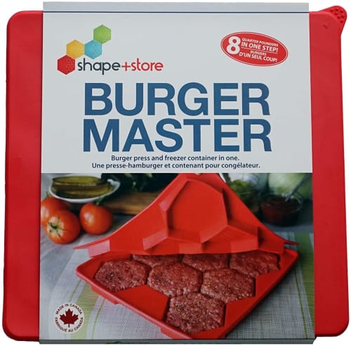 Shape + Store Burger Master 8-in-1 Burger Press for $25 + pickup