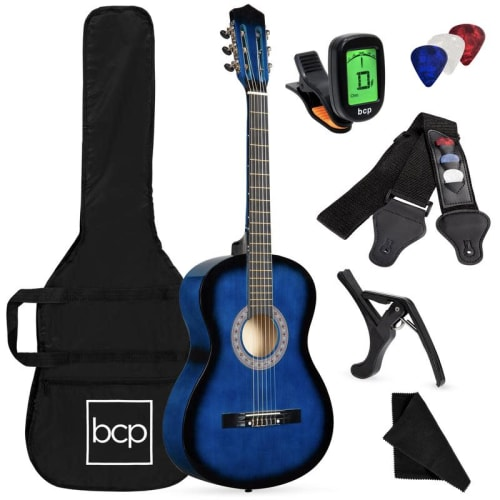 Best Choice Products Beginner Acoustic Guitar Set for $50 + free shipping