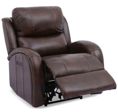 Leiston Leather Dual Power Recliner for $599 + $109 s&h