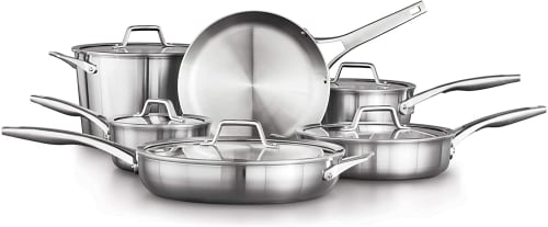 Calphalon Premier Stainless Steel 11-Piece Cookware Set for $280 + free shipping