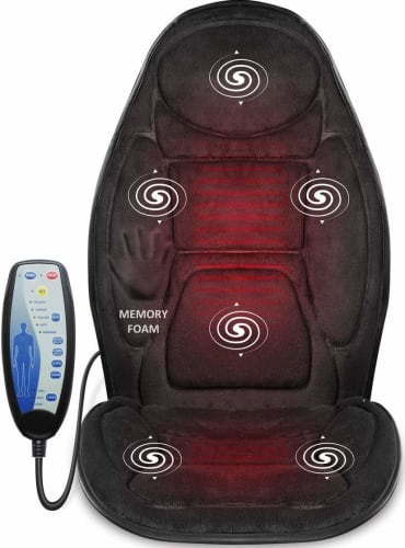 Snailax Vibration Back Massage Car Seat Cushion w/ Memory Foam for $44 + free shipping