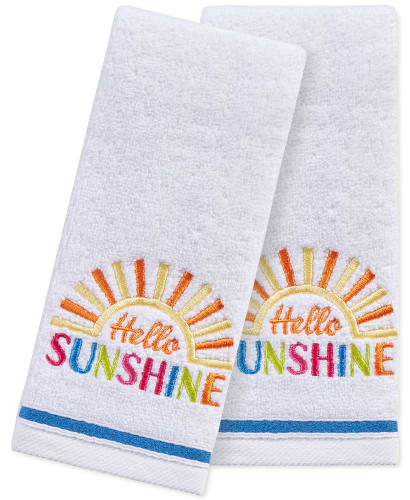 "Martha Stewart Collection 2-Piece ""Hello Sunshine"" Fingertip Towel Set for $11 + pickup"