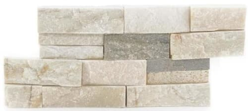 "Satori Desert Quartz Ledgestone 6"" x 12"" Natural Stone Quartz Wall Tile for $3 + pickup"