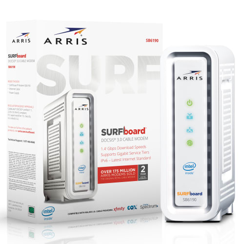 Certified Refurb Arris Surfboard DOCSIS 3.0 Gigabit Cable Modem for $34 + free shipping