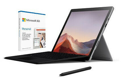 "Surface Pro 7 10th-Gen. i5 12.3"" 128GB Windows Tablet w/ Type Cover, Surface Pen, Microsoft 365 1yr for $850 + free shipping"