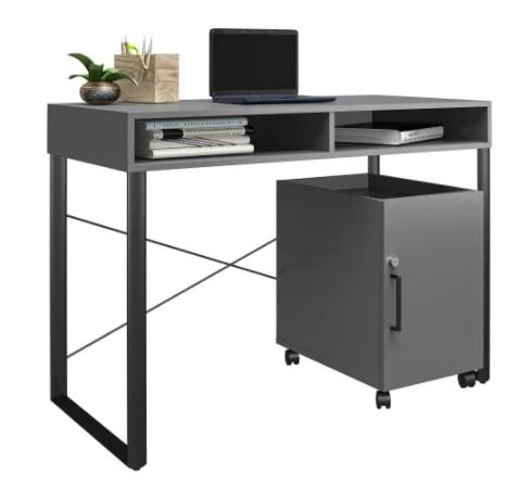 """Brenton Studio Bexler 42"""" Desk w/ Mobile Cart for $110 + free shipping"""