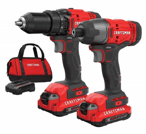Craftsman 2-Tool 20V Cordless Drill Combo Kit for $99 + free shipping