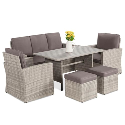 Best Choice Products 7-Seater Wicker Patio Dining Set for $600 + free shipping
