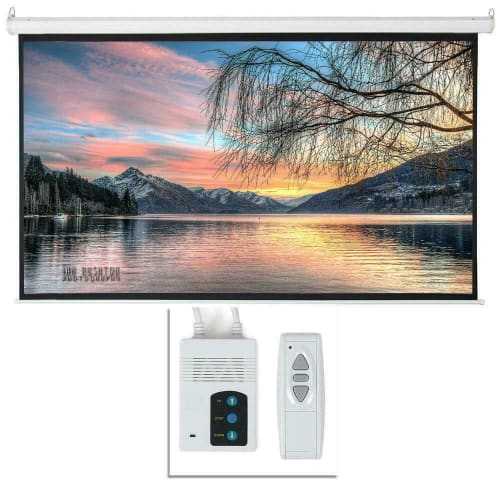 """92"""" Foldable Electric Motorized Projector Screen for $66 + free shipping"""