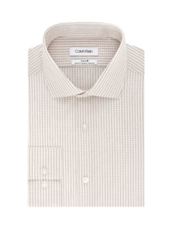 Calvin Klein Men's Steel Stretch Slim Fit Check Print Dress Shirt for $20 + free shipping w/ $49