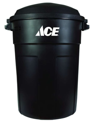 Ace 32-Gallon Plastic Garbage Can w/ Lid for $15 w/ Ace Rewards + pickup